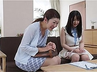 Sapphic materfamilias seduces nipper