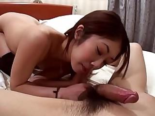 Uncensored JAV gorgeous amateur blowjob with subtitles