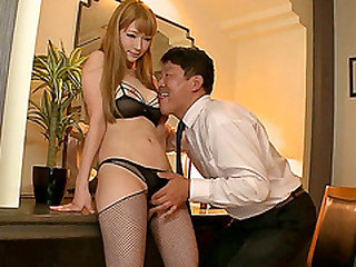 Pretty Japanese secretary fucks say no to boss be fitting of job promotion