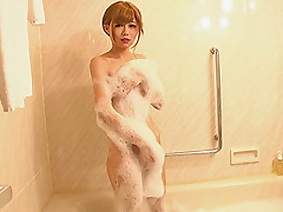 Atrophied Japanese hooker intensely fucked baulk bubble bath