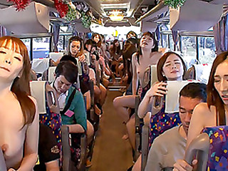 Entertaining Japanese chick enjoys extreme fuck fest upstairs the bus