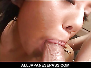 Cute Japanese latex bat attacks powered guys and finds throughout her holes filled eruption