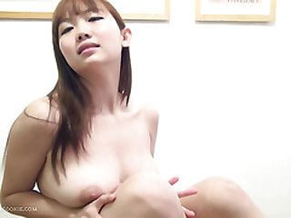 Busty Japanese girl playsuit & toys