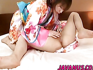 Naff lesbian span enjoy fingering with an increment of dildo fucking