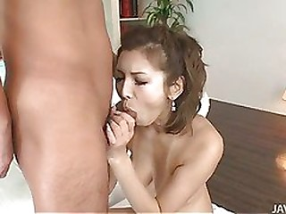 Japanese Mai Kuroki is dressed not far from and ends not far from staying home in the matter of gobble and fuck a hard dig up