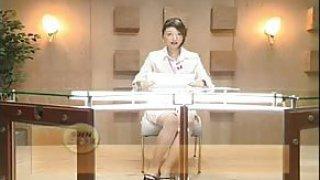 fuck mistiness Japanese TV Announcer Bukkake