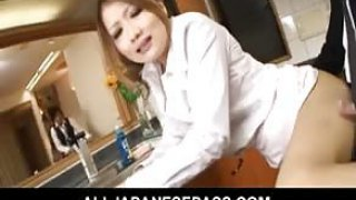 sex tube Japanese housewife gets fucked in her kitchen