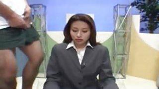 free porno tube Japanese newsreader bukkake