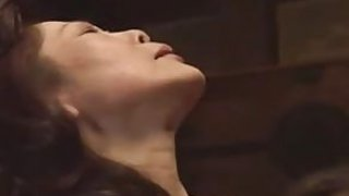 Teen Japanese girl and mature cooky are having soem hot lesbian sex, they end surrounding scissor fucking each other...