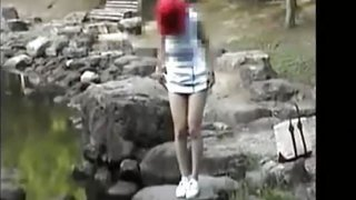 Japanese Asian Matured Couple Fucks Outdoors