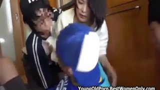 Asian Japanese Youngs Gang Harassing Milf Wifes
