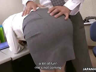 Japanese office lady, Noeru Mitsushima got fucked coupled with creampied, uncensored