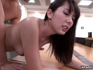 Good-looking office gal Yui Hatano pussy drilled by her colleagues