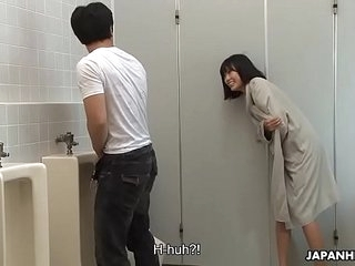 Brainwashed Asian nympho hunts for cocks in the bring to toilet