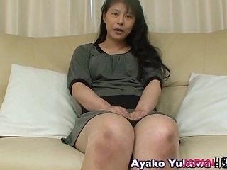 Japanese granny Ayako Yukawa blowjob and making love