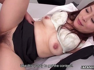 Japanese assignment slut Yuri Kawana gets ape teamed wide of colleagues